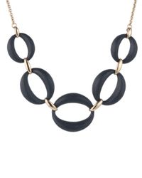 Alexis Bittar Black Large Lucite Link Necklace