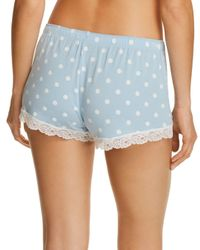 Pj Salvage - Blue Dotted Shorts - Lyst