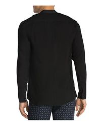 The Kooples - Black Butter Touch Slim Fit Button-down Shirt for Men - Lyst