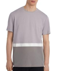 Karl Lagerfeld Gray Color - Block Tee for men