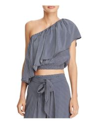 Faithfull The Brand Blue San Andres One-shoulder Top