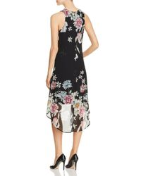 Karen Kane - Black Floral Print High/low Dress - Lyst