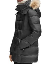 Marc New York - Black Riverdale Faux Fur Trim Hooded Puffer Coat - Lyst