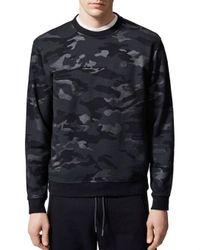 The Kooples Black Camouflage Print Sweatshirt for men