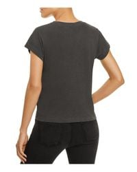 Wildfox - Black Relic Distressed Graphic Tee - Lyst