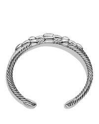David Yurman Metallic Confetti Wide Cuff Bracelet With Diamonds