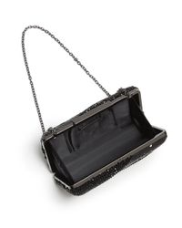 Sondra Roberts - Black Embellished Velvet Box Clutch - Lyst
