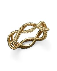 Roberto Coin - Metallic 18k Yellow Gold Single Row Twisted Ring - Lyst