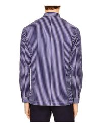 Sandro Blue American Slim Fit Button-down Shirt for men