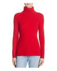 Aqua | Red Cashmere Turtleneck Cashmere Sweater | Lyst