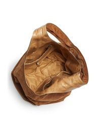 Halston Heritage Brown Iconic Large Suede Hobo