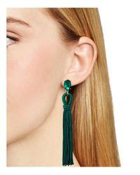 Aqua - Green Randi Fringe Earrings - Lyst