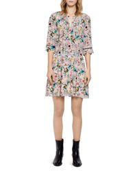 Zadig & Voltaire Multicolor Remus Tattoo Dress