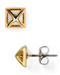 Rebecca Minkoff Metallic Pyramid Cut - Out Stud Earrings