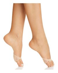 Hue - Natural Open Toe Mule Liner Socks - Lyst
