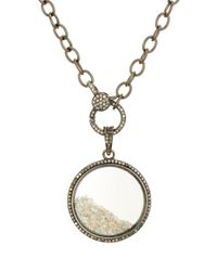 Ela Rae - Metallic Sterling Silver & Diamond Circle Pendant Necklace - Lyst