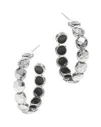 John Hardy Metallic Palu Silver Disc Small Hoop Earrings