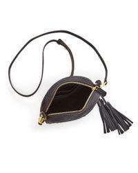 Tory Burch Black Mcgraw Round Leather Crossbody