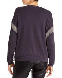 LNA Multicolor Chain - Fringed Drop - Shoulder Sweatshirt
