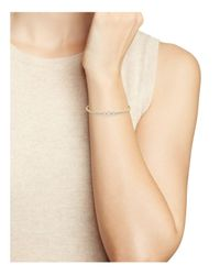 Nadri - Metallic Three Stone Pavé Cuff Bracelet - Lyst