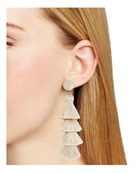 BaubleBar - Multicolor Gabriela Tiered Tassel Earrings - Lyst