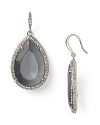 ABS By Allen Schwartz - Metallic Stone Drop Earrings - Lyst