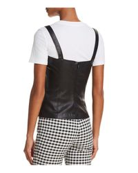 Theory Black Square-neck Bristol Leather Perfect Camisole