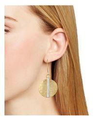 Robert Lee Morris - Metallic Shepards Hook Disc Earrings - Lyst