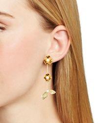 Kate Spade - Metallic Botanical Drop Earrings - Lyst