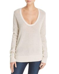 Theory - White Scoop Neck Sweater - Lyst
