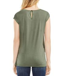 Vince Camuto - Green Tie-front Top - Lyst