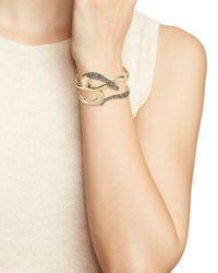 Alexis Bittar Metallic Snake Cuff Bracelet