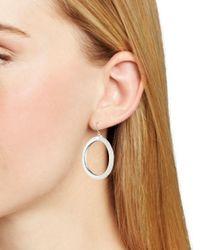 Ralph Lauren Metallic Lauren Frozen Hoop Earrings