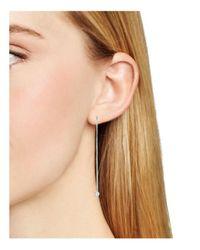 Aqua - Metallic Dangling Threader Earrings - Lyst