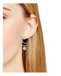Argento Vivo - Metallic Two-tone Double Hoop Earrings - Lyst