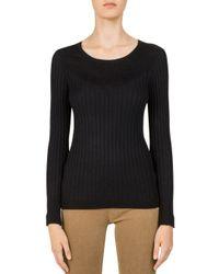 Gerard Darel - Black Clara Contrast-rib Sweater - Lyst