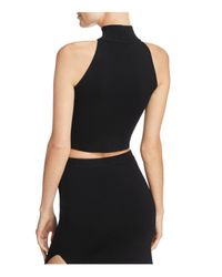 Olivaceous - Black Cutout Cropped Top - Lyst