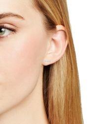 Adina Reyter - 14k White Gold Pavé Diamond Bar Stud Earrings - Lyst