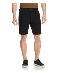 Rag & Bone | Twill Regular Fit Shorts In Black for Men | Lyst