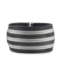 Alor - Metallic Two Tone Wide Cable Cuff - Lyst