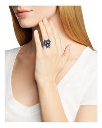Rebecca Minkoff - Blue Rock 'n Roll Star Statement Ring - Lyst