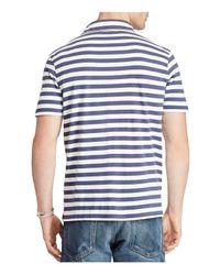 Polo Ralph Lauren - Blue Classic Striped Cotton Polo for Men - Lyst