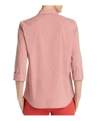 Lafayette 148 New York Multicolor Paget Gingham Shirt