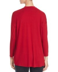 Eileen Fisher Red Mock Neck Tunic