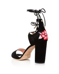Kate Spade - Black Oasis Lace Up High Heel Sandals - Lyst