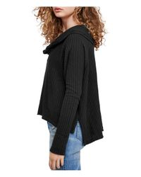 Free People - Black Wildcat Thermal Sweater - Lyst
