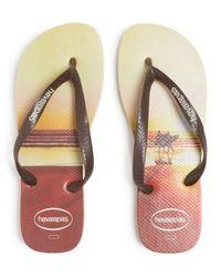 Havaianas Multicolor Men's Hype Beach Print Flip - Flops for men