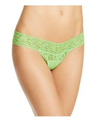 Hanky Panky - Green Low-rise Thong - Lyst