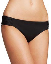 Becca Black Color Code Shirred Tab Bikini Bottom