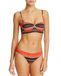 Paul Smith - Orange Maharam Print Cupped Bandeau Bikini Top - Lyst